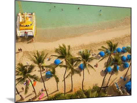 Waikiki Beach, Honolulu, Oahu, Hawaii, Usa-Douglas Peebles-Mounted Photographic Print