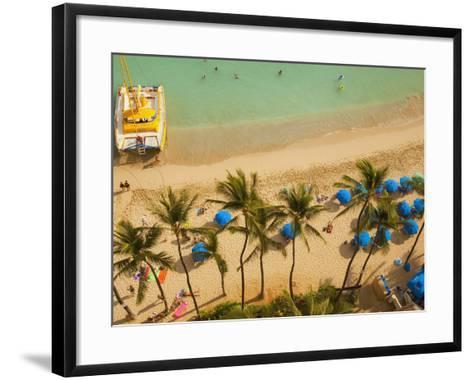 Waikiki Beach, Honolulu, Oahu, Hawaii, Usa-Douglas Peebles-Framed Art Print