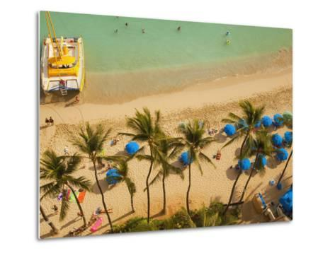 Waikiki Beach, Honolulu, Oahu, Hawaii, Usa-Douglas Peebles-Metal Print