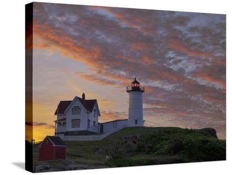 Sunrise Skies over Nubble Aka Cape Neddick Lighthouse in York, Maine, Usa-Chuck Haney-Stretched Canvas Print