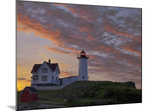 Sunrise Skies over Nubble Aka Cape Neddick Lighthouse in York, Maine, Usa-Chuck Haney-Mounted Photographic Print