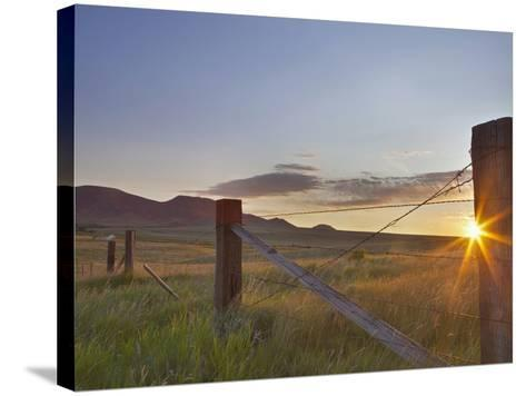 Ranching Country at Daybreak in the Sweetgrass Hills Near Whitlash, Montana, Usa-Chuck Haney-Stretched Canvas Print