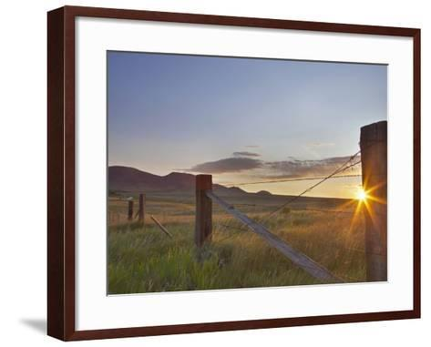 Ranching Country at Daybreak in the Sweetgrass Hills Near Whitlash, Montana, Usa-Chuck Haney-Framed Art Print