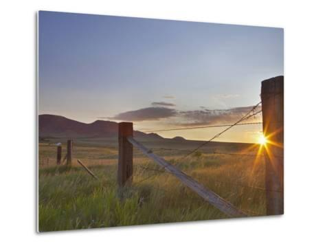 Ranching Country at Daybreak in the Sweetgrass Hills Near Whitlash, Montana, Usa-Chuck Haney-Metal Print