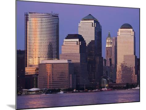 Setting Sun Reflects Off Building Windows on Manhattan Skyline, New York City, New York, Usa-Paul Souders-Mounted Photographic Print