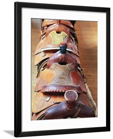 Old Saddles, Richardsons Trading Post, New Mexico, Usa-Julian McRoberts-Framed Art Print