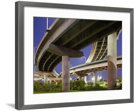 Interstate Highway Bridge Overpass at Dusk on Summer Evening, Charleston, South Carolina, Usa-Paul Souders-Framed Art Print