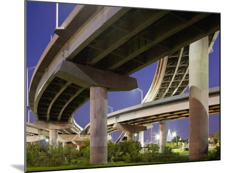 Interstate Highway Bridge Overpass at Dusk on Summer Evening, Charleston, South Carolina, Usa-Paul Souders-Mounted Photographic Print
