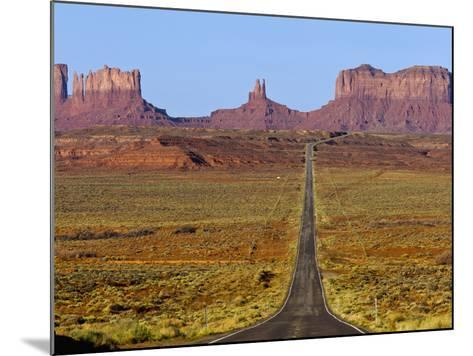 Highway 163 Leads to Monument Valley Navajo Tribal Park on the Arizona and Utah State Line, Usa-Chuck Haney-Mounted Photographic Print