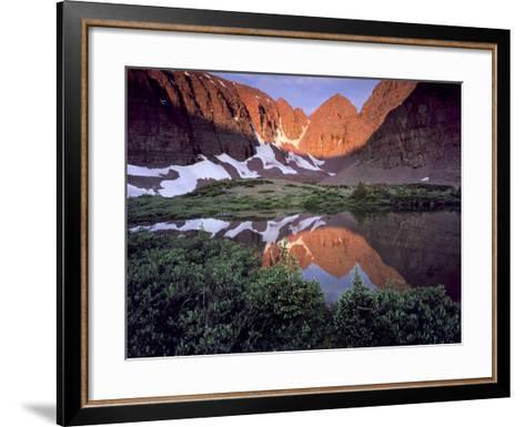 Morning Light on Quartzite Cliffs of Red Castle Peak, High Uintas Wilderness, Utah, Usa-Scott T^ Smith-Framed Art Print