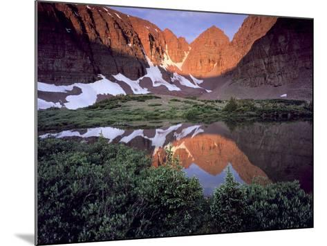 Morning Light on Quartzite Cliffs of Red Castle Peak, High Uintas Wilderness, Utah, Usa-Scott T^ Smith-Mounted Photographic Print