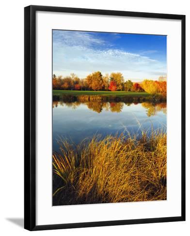 Fall Color and Reflection in the Yakima Arboretum, Yakima, Washington, Usa-Richard Duval-Framed Art Print