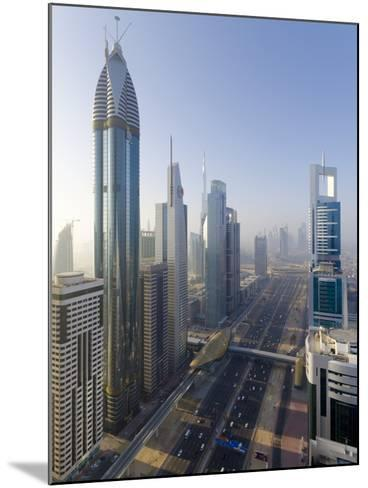 Uae, Dubai, Sheikh Zayed Road (Highway E11)-Alan Copson-Mounted Photographic Print