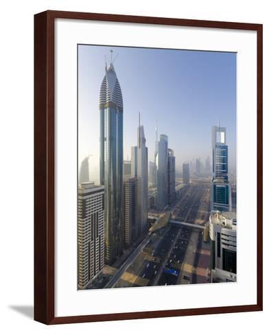 Uae, Dubai, Sheikh Zayed Road (Highway E11)-Alan Copson-Framed Art Print