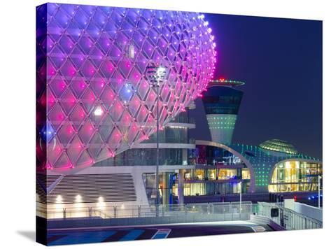 United Arab Emirates, Abu Dhabi, Yas Island, the Yas Hotel and Yas Marina Grand Prix Motor Racing C-Alan Copson-Stretched Canvas Print
