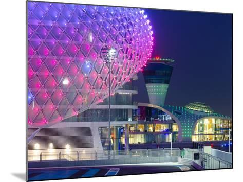 United Arab Emirates, Abu Dhabi, Yas Island, the Yas Hotel and Yas Marina Grand Prix Motor Racing C-Alan Copson-Mounted Photographic Print