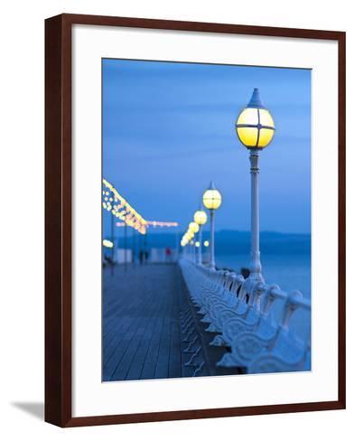 UK, England, Devon, Torbay, Torquay, Torquay Princess Pier-Alan Copson-Framed Art Print