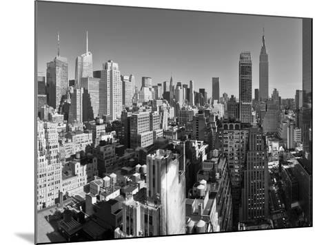 USA, New York, Manhattan, Midtown Skyline Including Empire State Building-Alan Copson-Mounted Photographic Print