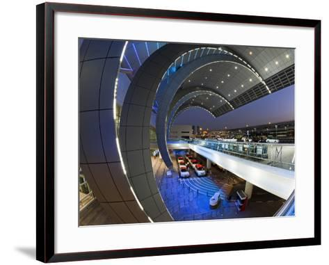 Stylish Modern Architecture of the 2010 Opened Terminal 3 of Dubai International Airport, Dubai, Un-Gavin Hellier-Framed Art Print