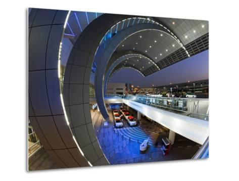 Stylish Modern Architecture of the 2010 Opened Terminal 3 of Dubai International Airport, Dubai, Un-Gavin Hellier-Metal Print