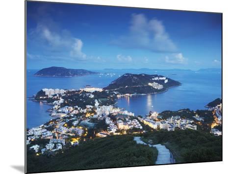 View of Stanley at Dusk, Hong Kong Island, Hong Kong, China-Ian Trower-Mounted Photographic Print