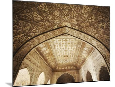 Ceiling of Khas Mahal in Agra Fort, Agra, Uttar Pradesh, India-Ian Trower-Mounted Photographic Print
