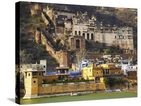 Bundi Palace, Bundi, Rajasthan, India-Ian Trower-Stretched Canvas Print