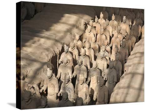 China, Shaanxi, Xi'An, the Terracotta Army Museum, Terracotta Warriors-Jane Sweeney-Stretched Canvas Print