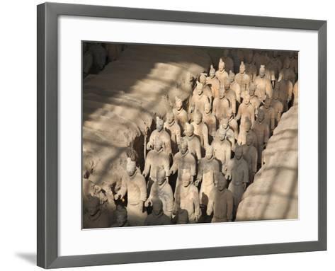 China, Shaanxi, Xi'An, the Terracotta Army Museum, Terracotta Warriors-Jane Sweeney-Framed Art Print