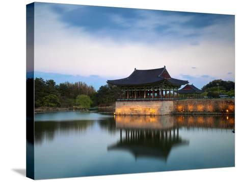 Korea, Gyeongsangbuk-Do, Gyeongju, Anapji Pond-Jane Sweeney-Stretched Canvas Print
