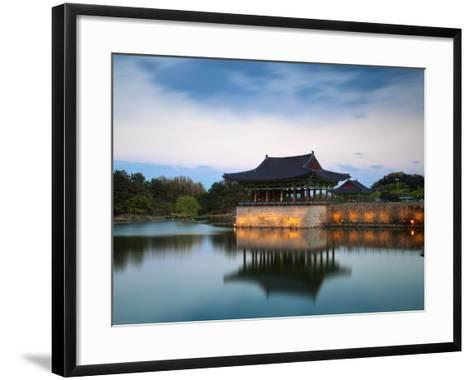 Korea, Gyeongsangbuk-Do, Gyeongju, Anapji Pond-Jane Sweeney-Framed Art Print