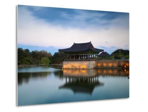 Korea, Gyeongsangbuk-Do, Gyeongju, Anapji Pond-Jane Sweeney-Metal Print