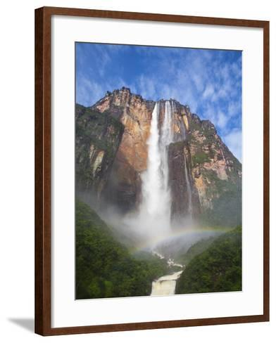 Venezuela, Guayana, Canaima National Park, View of Angel Falls from Mirador Laime-Jane Sweeney-Framed Art Print
