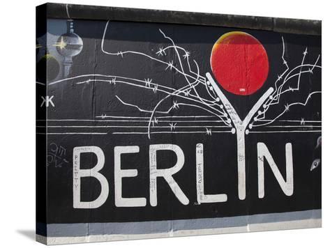 Eastside Gallery (Berlin Wall), Muhlenstrasse, Berlin, Germany-Jon Arnold-Stretched Canvas Print