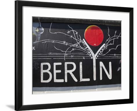 Eastside Gallery (Berlin Wall), Muhlenstrasse, Berlin, Germany-Jon Arnold-Framed Art Print