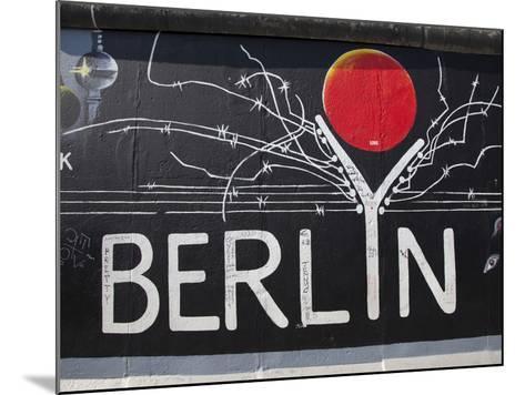 Eastside Gallery (Berlin Wall), Muhlenstrasse, Berlin, Germany-Jon Arnold-Mounted Photographic Print