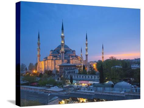 Blue Mosque (Sultan Ahmet Camii), Sultanahmet, Istanbul, Turkey-Jon Arnold-Stretched Canvas Print