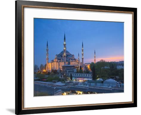 Blue Mosque (Sultan Ahmet Camii), Sultanahmet, Istanbul, Turkey-Jon Arnold-Framed Art Print