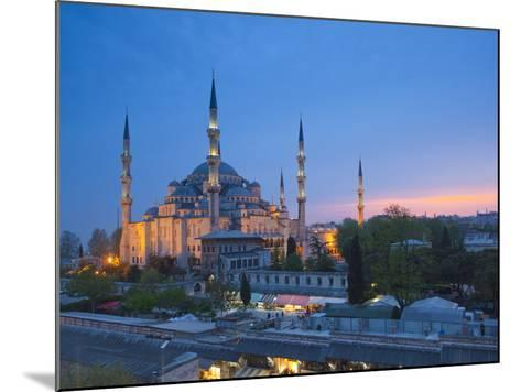 Blue Mosque (Sultan Ahmet Camii), Sultanahmet, Istanbul, Turkey-Jon Arnold-Mounted Photographic Print