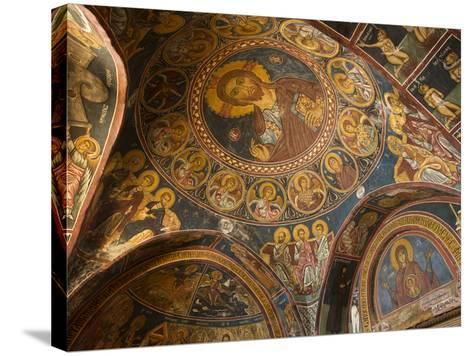 Historical Wallpaintings in Panagia Forviotissa Church in Asinou, Troodos Mountains, Cyprus-Katja Kreder-Stretched Canvas Print