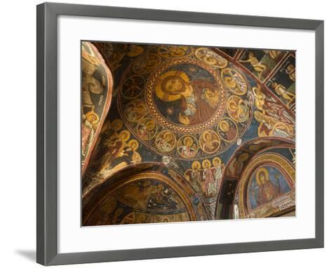 Historical Wallpaintings in Panagia Forviotissa Church in Asinou, Troodos Mountains, Cyprus-Katja Kreder-Framed Art Print