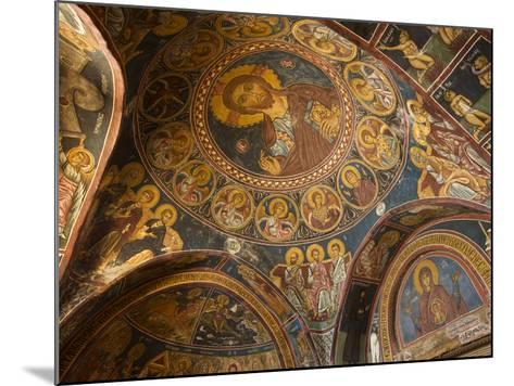 Historical Wallpaintings in Panagia Forviotissa Church in Asinou, Troodos Mountains, Cyprus-Katja Kreder-Mounted Photographic Print