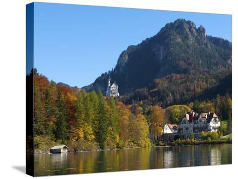 Neuschwanstein Castle Ans Lake Alpsee, Allgaeu, Bavaria, Germany-Katja Kreder-Stretched Canvas Print