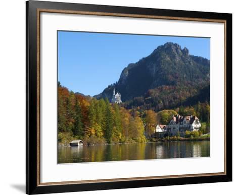 Neuschwanstein Castle Ans Lake Alpsee, Allgaeu, Bavaria, Germany-Katja Kreder-Framed Art Print