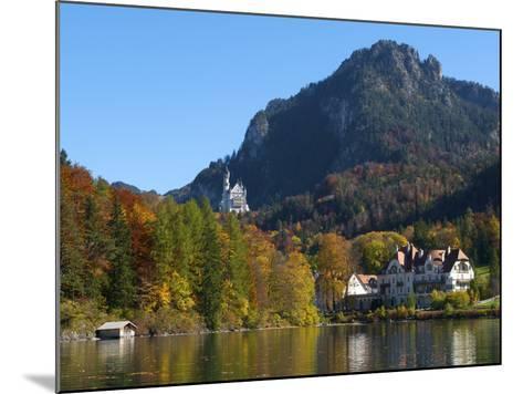 Neuschwanstein Castle Ans Lake Alpsee, Allgaeu, Bavaria, Germany-Katja Kreder-Mounted Photographic Print