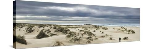 The Vast Empty Beach and Sand Dunes of Sao Jacinto in Winter, Beira Litoral, Portugal-Mauricio Abreu-Stretched Canvas Print