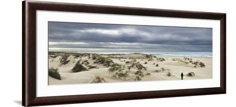 The Vast Empty Beach and Sand Dunes of Sao Jacinto in Winter, Beira Litoral, Portugal-Mauricio Abreu-Framed Art Print