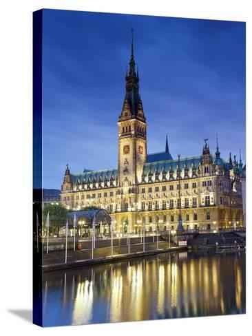 Germany, Hamburg, City Hall (Rathaus)-Michele Falzone-Stretched Canvas Print