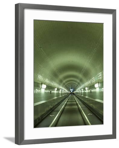 Germany, Hamburg, Landungsbrucken, St. Pauli Elbtunnel (Historic Pedestrian Tunnel under Elbe River-Michele Falzone-Framed Art Print
