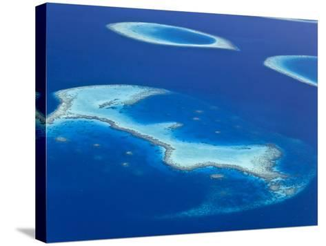 Maldives, Aerial View of Islands and Atolls-Michele Falzone-Stretched Canvas Print
